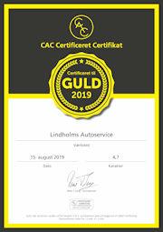 Certifikat for Lindholm Autoservice
